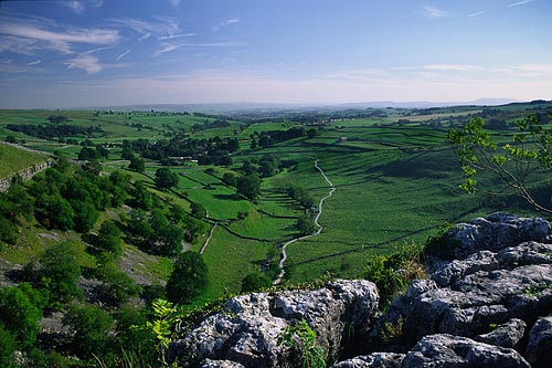View of Malhamdale from Malham Cove, Yorkshire Dales, Photo copyright © Paul Heaton