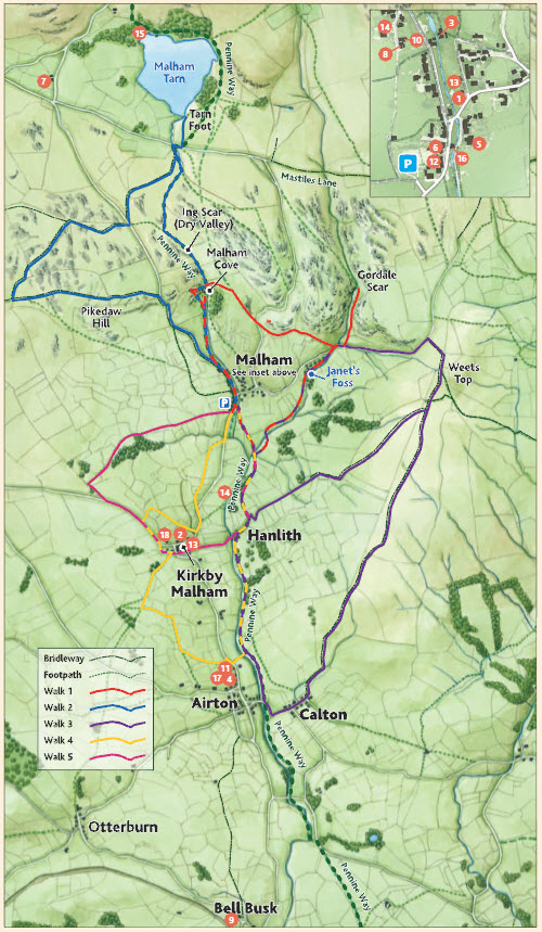 Malhamdale Walking Map, Yorkshire Dales