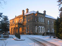 Newfield Hall in the snow