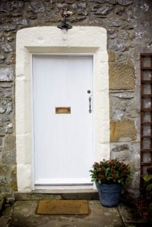The Front Door, Rose Cottage Holiday Accommodation, Malham, Yorkshire Dales