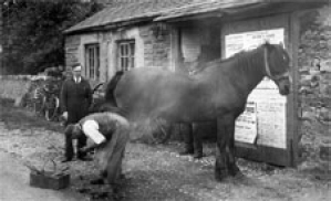The Smithy in bygone days c1938 Photo courtesy of Malhamdale Historical Society